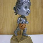 Trophy 053 Basketball Bobblehead, female
